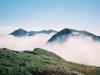 北戸蔦別岳付近より1856m峰(中央右)・1967m峰(左奥)を望む