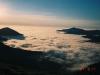 ビバーク地付近より十勝幌尻岳(左)・妙敷山(左)を望む