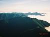 1967m峰より国境稜線北部の山々・芽室岳(中央右)を望む