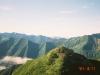 1967m峰より幌尻岳(右端)・戸蔦別岳(右)・ナメワッカ岳(中央左)・カムイエクチカウシ山(左)を望む