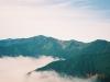 ピパイロ岳より幌尻岳(中央左)・戸蔦別岳(中央)・北戸蔦別岳(右)・イドンナップ岳(左)を望む