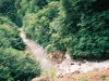 林道より額平川を見下ろす