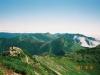 幌尻岳より北日高の山々を望む