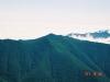 幌尻岳より神威岳(北日高)を望む