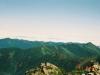 幌尻岳肩付近より北日高の山々を望む