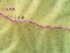 北日高縦走第3行程地図その1
