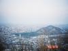三角山より円山と札幌の市街地を望む