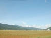 幌加内市街郊外北側より三頭山を望む