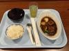 夕食のビーフシチュー(味噌汁のお椀をしてある状態)