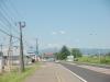 道の駅なよろ入口付近よりピヤシリ山方面を望む。