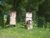ピヤシリ山頂まであと11.5kmの標識と登山ポスト